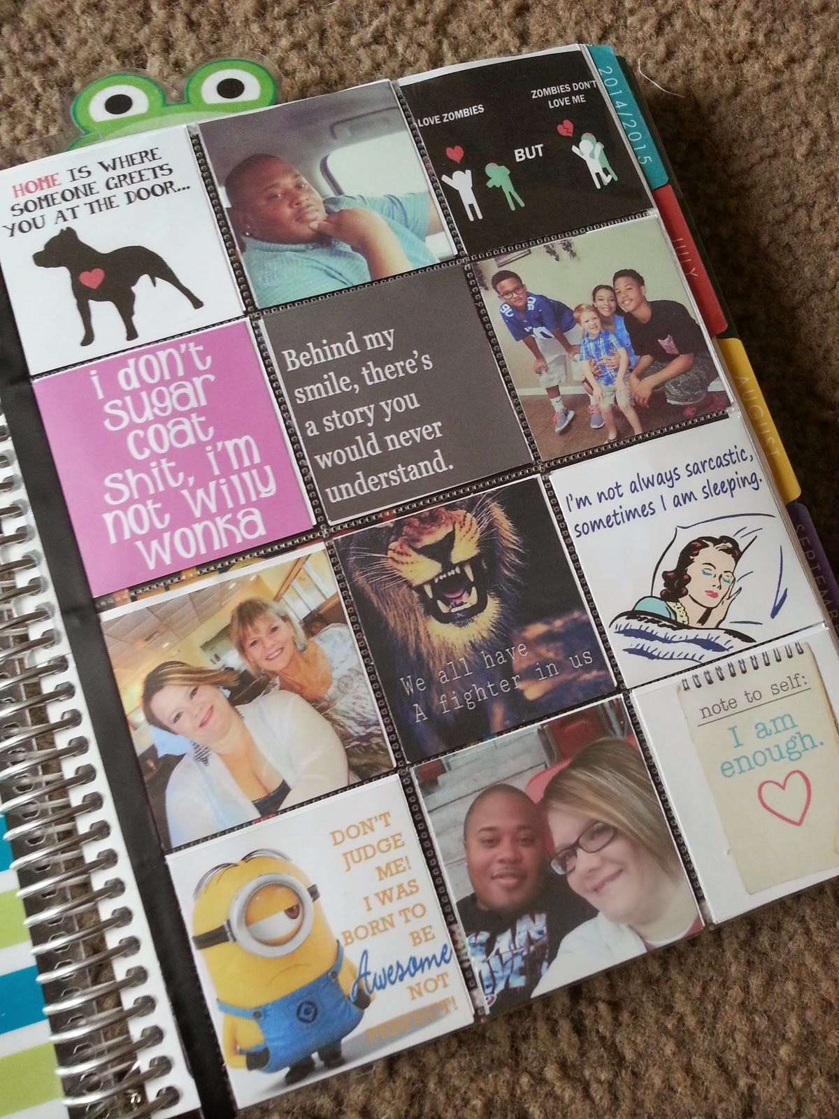 life in print photo collage in my erin condren life planner