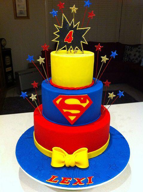 Super Hero Cake Super Girl Cake Flickr Photo Sharing