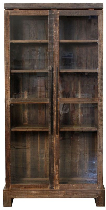 Wooden Cabinet With Glass Doors Glass Cabinet Doors Home