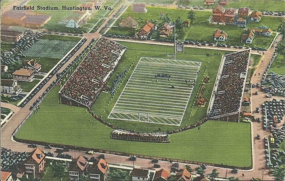 Vintage Huntington, West Virginia Fairfield Stadium west
