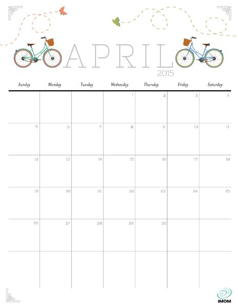 Cute and Free 2015 Printable Calendar | 2018 Calendars | 2015