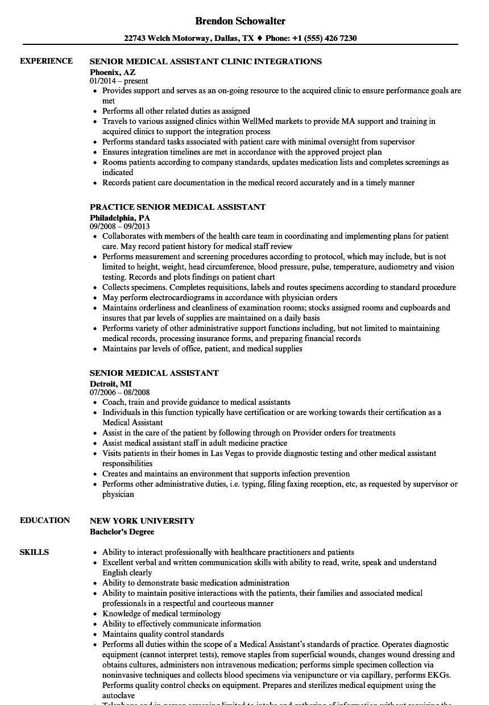 Medical assistant Skills for Resume Cool and Elegant