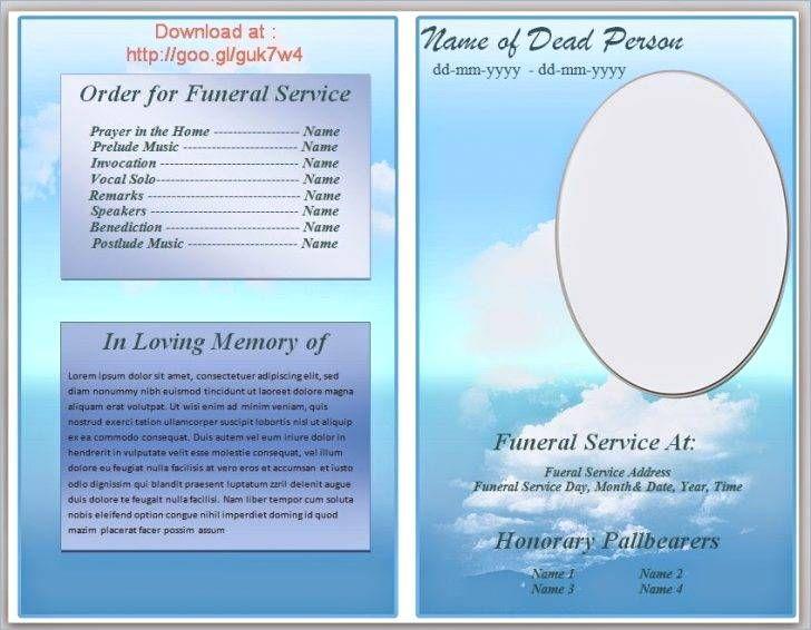 Free Funeral Program Templates Download Pics \u2013 Free Memorial Service