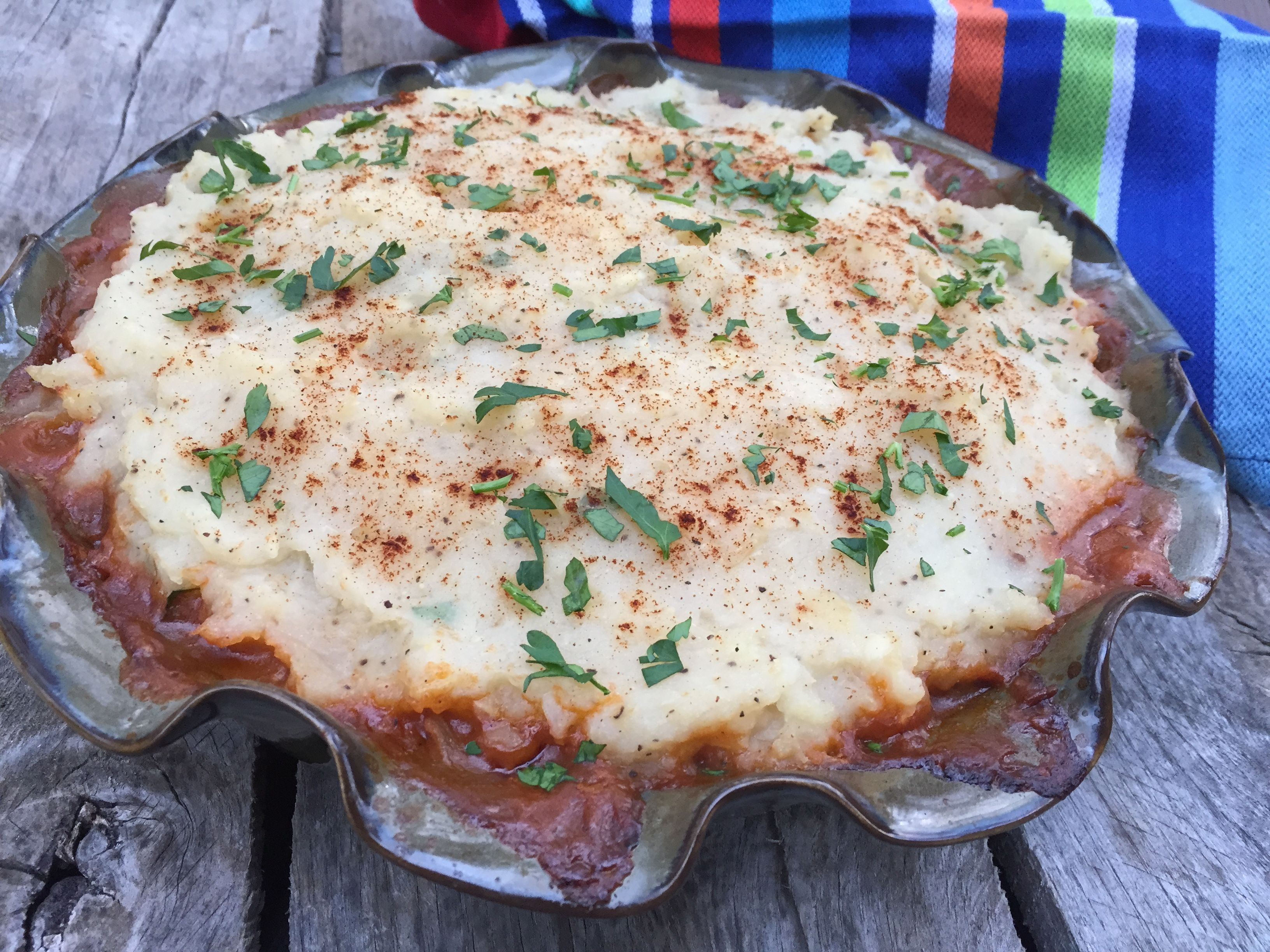 Cottage Pie...With Grass Fed Beef and Turnip Mashed Potatoes by:  Southern Girl Eats Clean