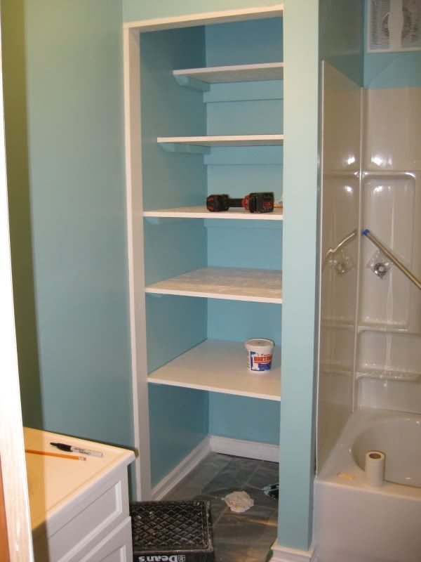 Built In Shelves Small Closet | We Finished Building And Painting The  Shelves In The Built