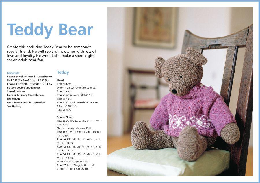 Teddy Bear Pattern | ours | Pinterest | Teddy bear patterns, Teddy ...