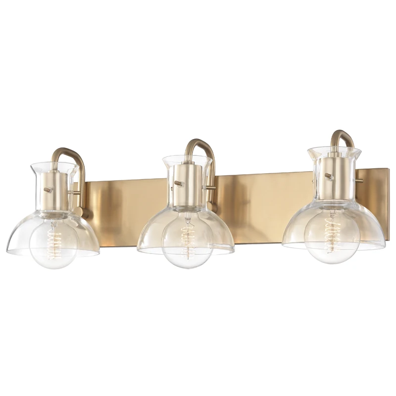 Photo of Mitzi Riley 3 light bathroom light – aged brass