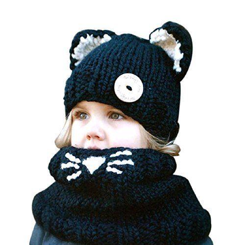 Doux Chaud Hiver chapeau Et écharpe Ensemble Pour Hommes Tricoté capuchon de laine et coton