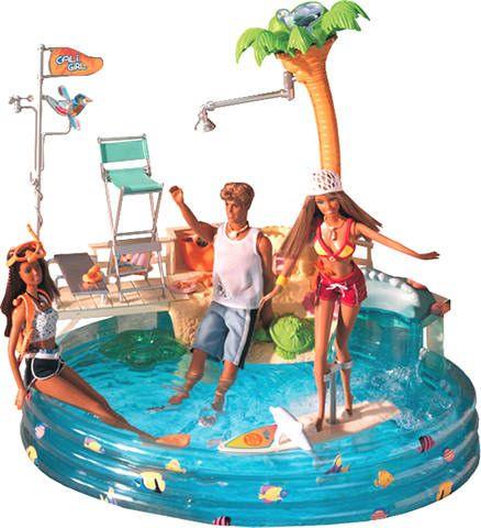 Barbie pool barbie pinterest barbie doll for Barbie doll house with swimming pool