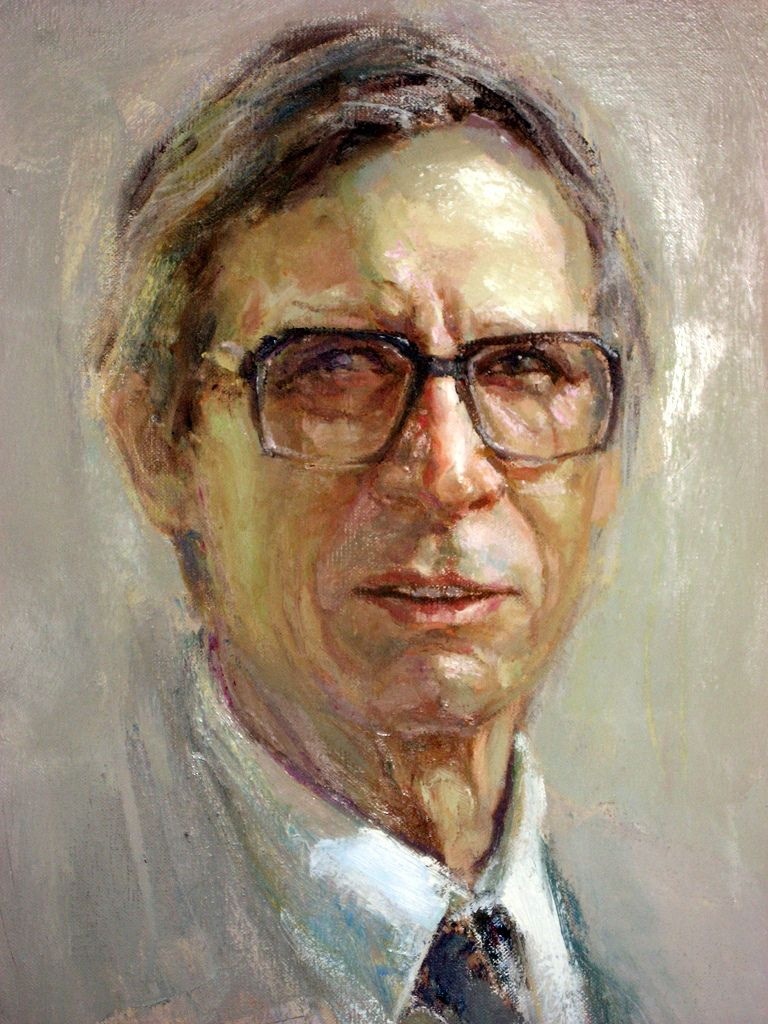 John Rawls Political Philosopher John Male Sketch Portrait