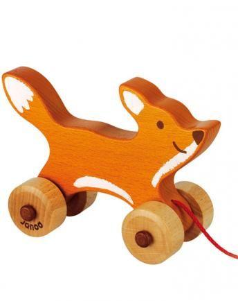 Zieh-Fuchs FOXY in braun
