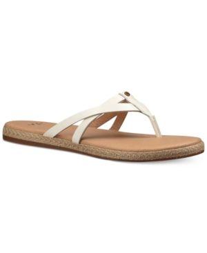 4f49aad0b5c Ugg Annice Flip-Flop Sandals - White 9.5   Products   Sandals, Flip ...