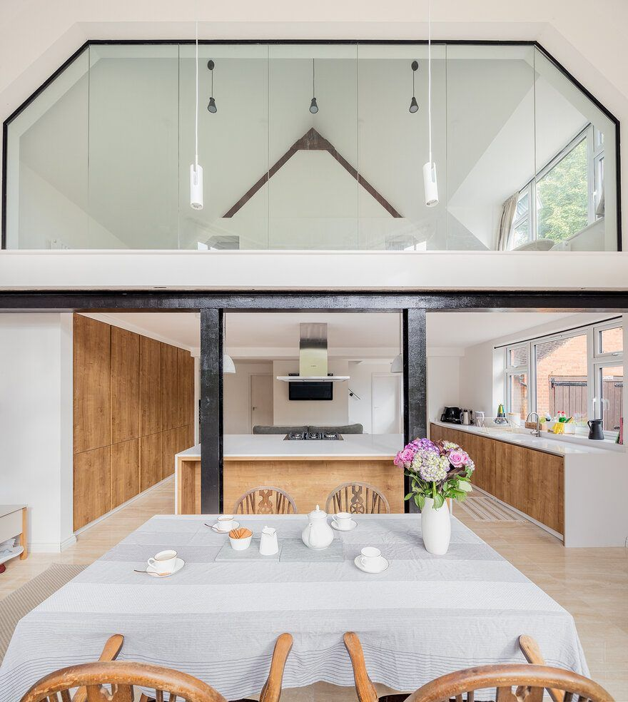 Old Billiard Hall Converted Into An Open Plan Living Space Open Plan Living Contemporary Furniture Design Living Spaces