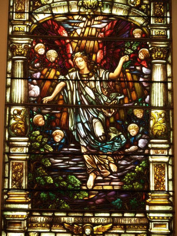Description: Richmond, Virginia (VA): St Paul's Episcopal Church: The Angel of Peace (installed 1912, Gorham Manufacturing Company)