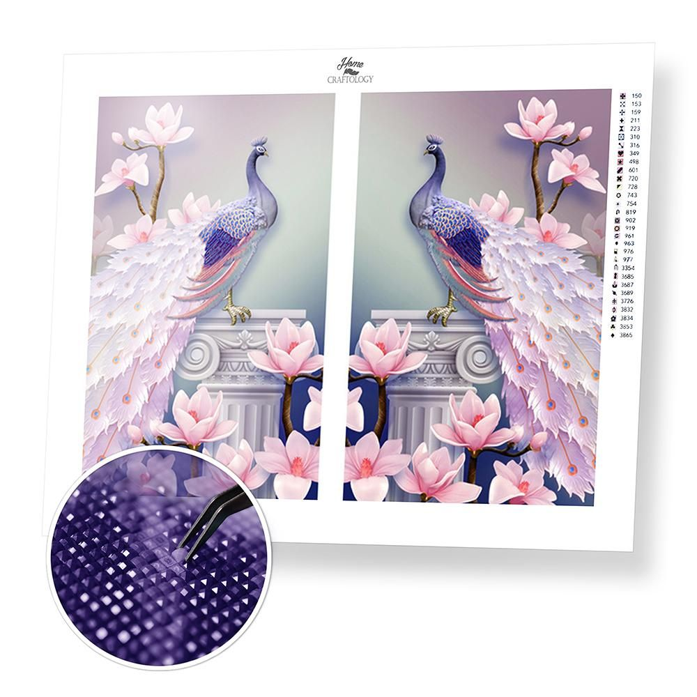 4d26c4c7ae Pink and Blue Peacock (40x30cm) - Diamond Painting Kit – Home Craftology
