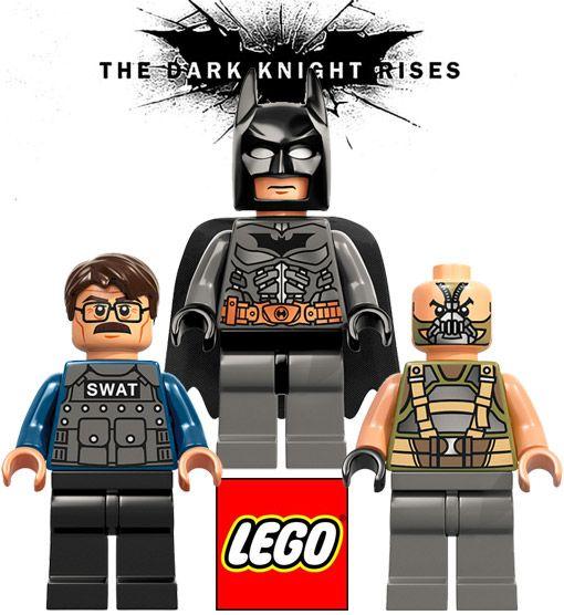 Mini Figuras Lego Batman Comissario Gordon E Bane Do Filme O