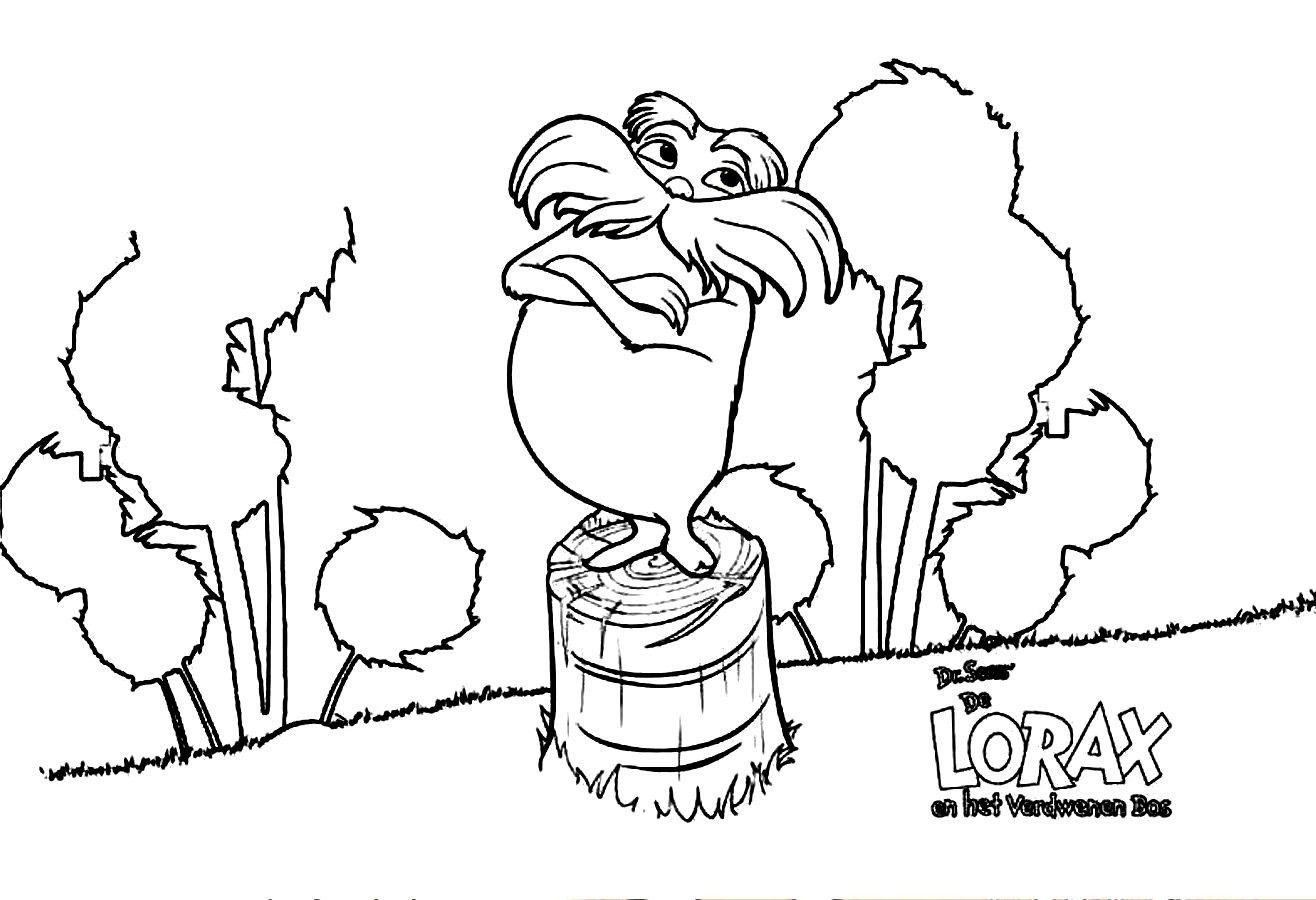 Elegant Photo of The Lorax Coloring Pages Dr seuss
