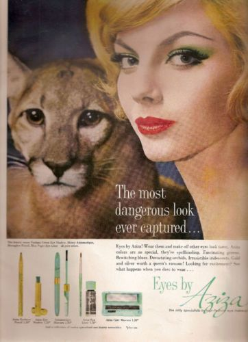 Aziza Cosmetics Advertisement 1960 Ebay With Images Beauty