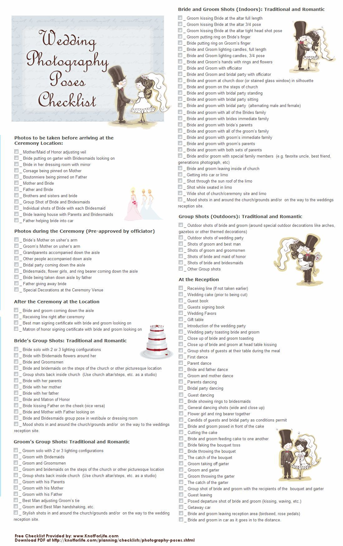 Cool Wedding Photography Checklist Best Photos