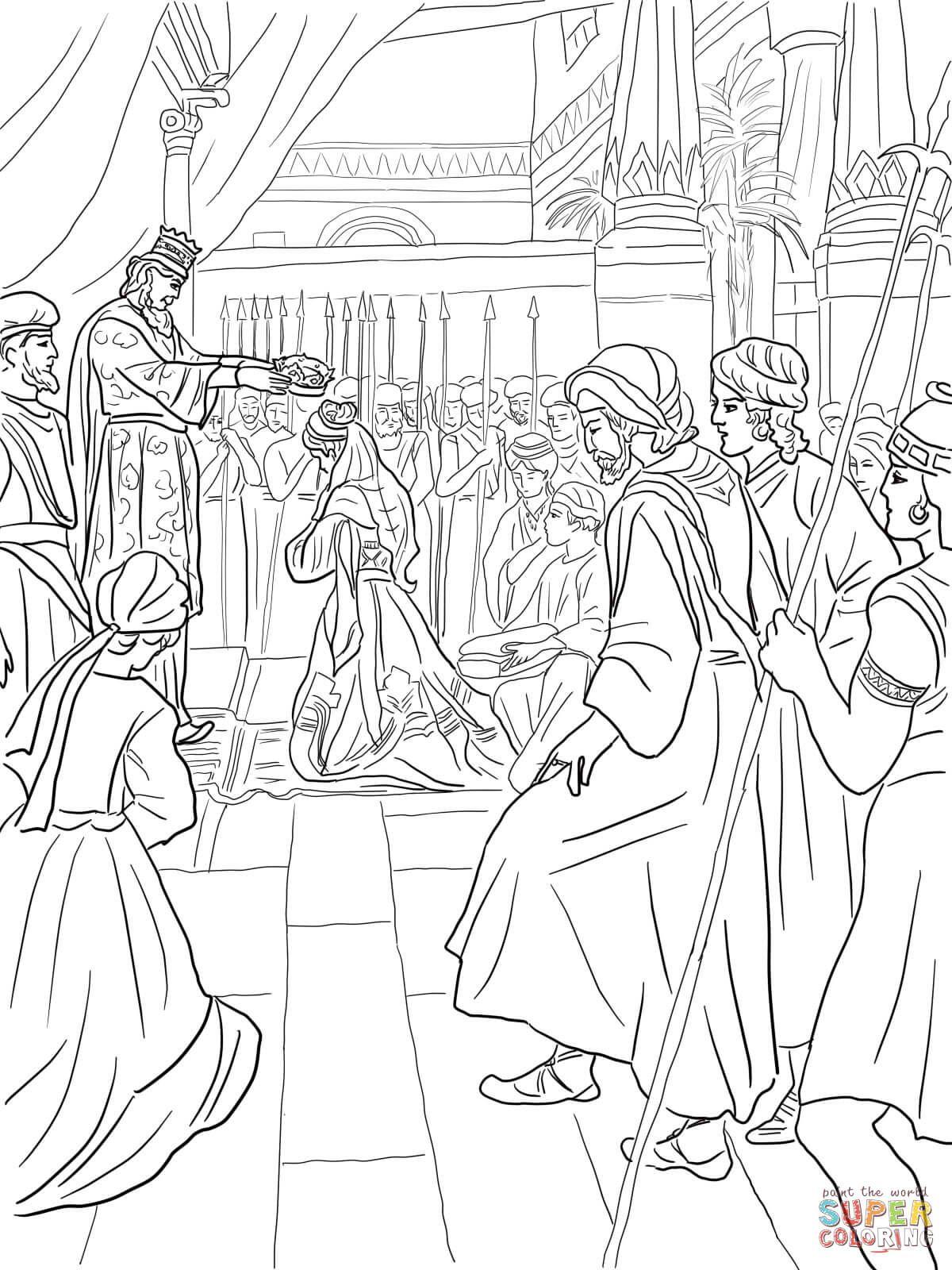 Esther wordt een koningin | Super Coloring | Biblical Studies ...