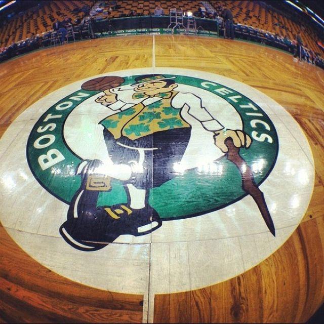 Boston Celtics hardwood