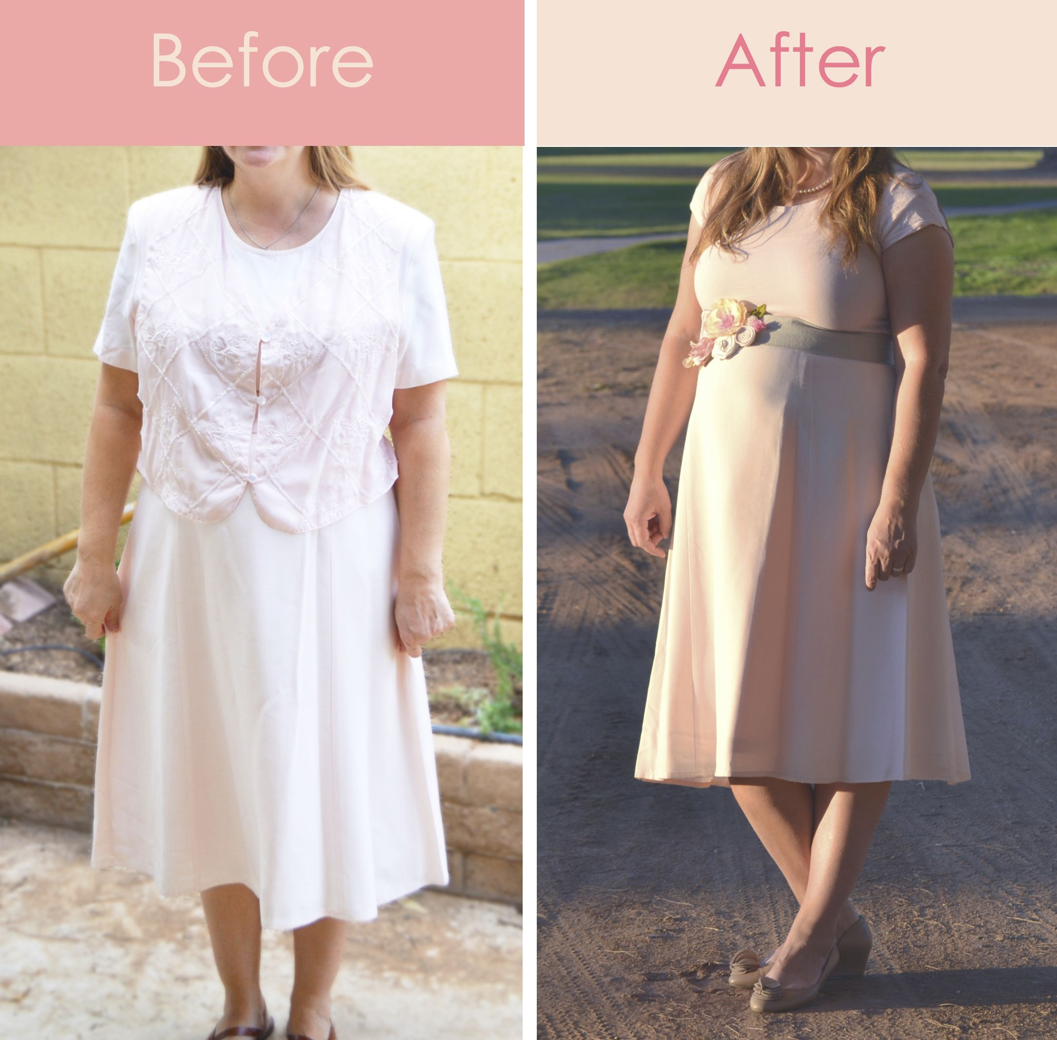 Check out how i took an unflattering 499 goodwill dress