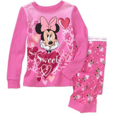 72c5d1b10 Disney - Baby Girls  Minnie Valentine 2-Piece PJ Set