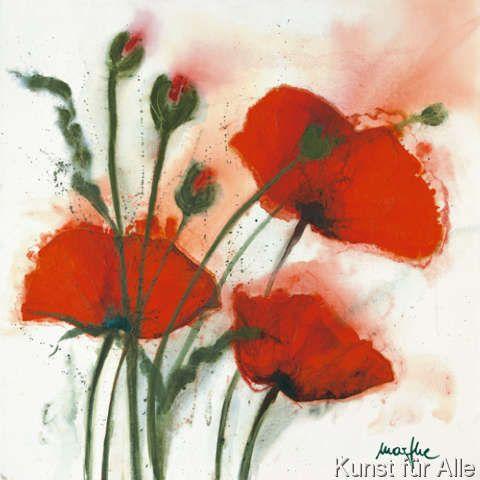 Klassischer Kunstdruck Mohnblumen Im Wind I Von Marthe Artwork Art Prints Framing Canvas Art
