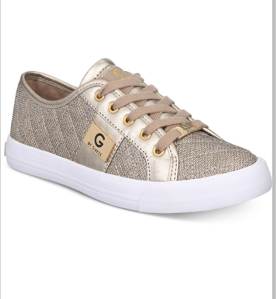 a8912fc8c82 G BY GUESS WOMENS FASHIONS SNEAKERS gold SIZE 7.5 and 8 NEW  fashion   clothing  shoes  accessories  womensshoes  athleticshoes (ebay link)