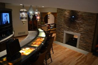 Inexpensive Bar Top Ideas Lighted Bar Top Is A Unique Way Of