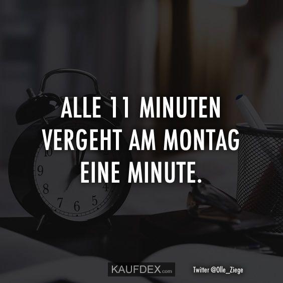 Alle 11 Minuten vergeht am Montag eine Minute