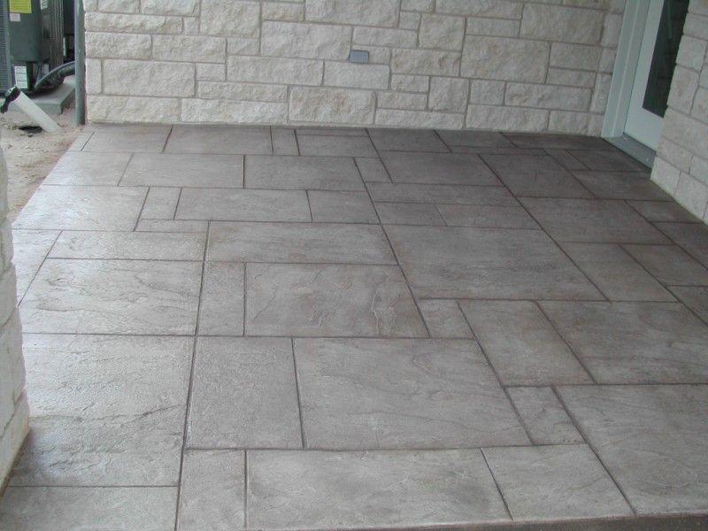 Stamped Concrete Patio Floor Hmmm Not A Bad Idea Concrete Patio