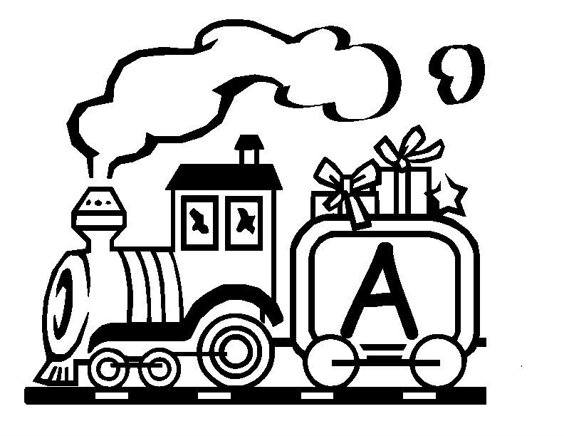 The Life Train Alphabet Coloring Pages Christmas Alphabet