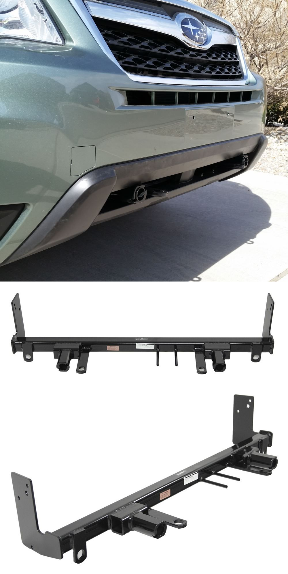 Blue Ox Base Plate Kit Removable Arms Subaru Forester
