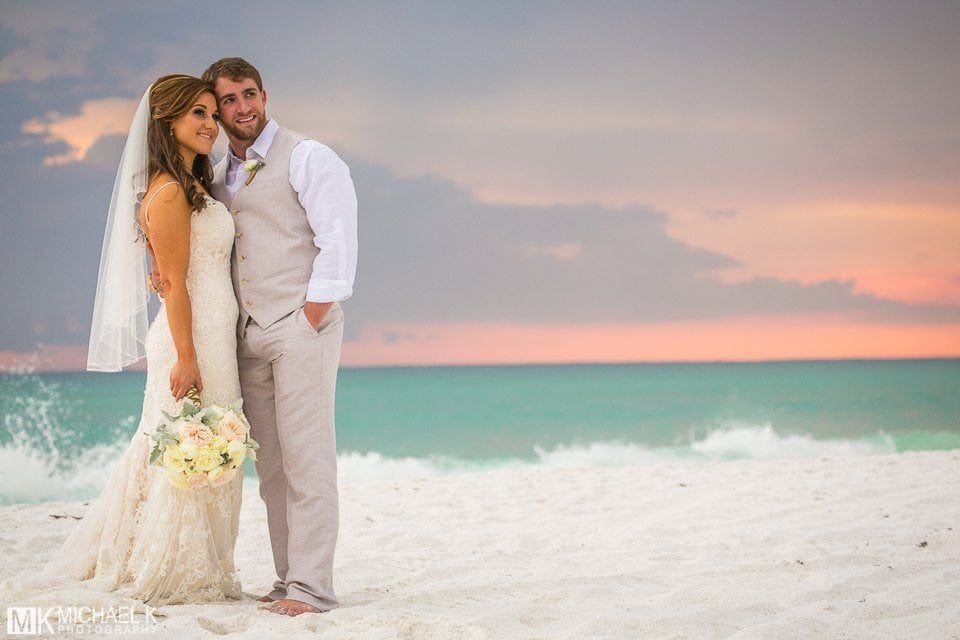 Destin Florida is one of the nations most popular spots for a destination wedding! Located along the gorgeous Emerald Coast Destin is famous for its white sand beaches and sparkling green water. With its majestic scenery and charming atmosphere Destin provides the perfect backdrop for any ceremony and reception. To help you plan your big #destinationwedding #destination #wedding #ideas