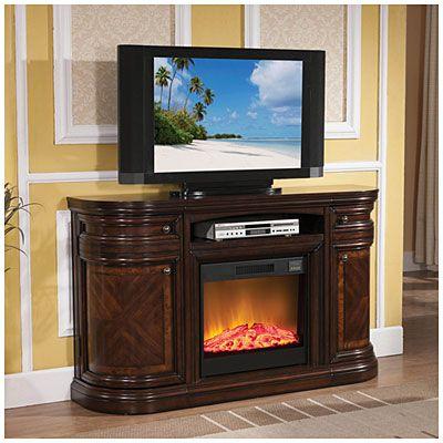 60 Cherry Media Fireplace At Big Lots Big Lots Fireplace Fireplace Tv Stand Fireplace