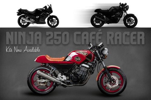 Kawasaki Ninja 250 Cafe Racer Kit This Is Seriously Cool Would