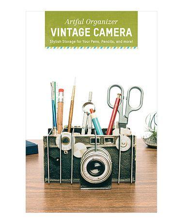 Another great find on #zulily! Vintage Camera Desk Organizer #zulilyfinds