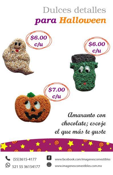 Regala este #Halloween figuras de #amaranto con #chocolate de ...