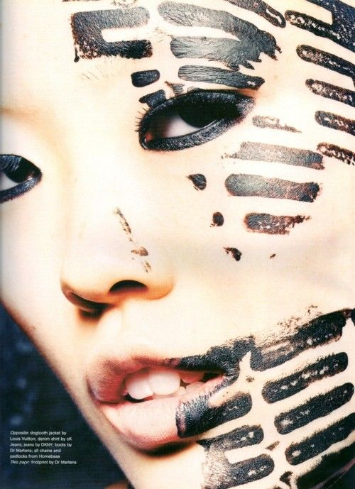 thedoppelganger:  Hard Harder HardestMagazine: The Face May 2001 Photographer: Sølve SundsbøModel: Kae Lee Iwakawa
