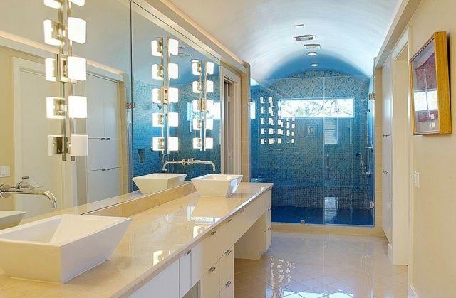 Salle De Bain Salle Bain Bleu Beige Le Design Salle De Bain 80 ...