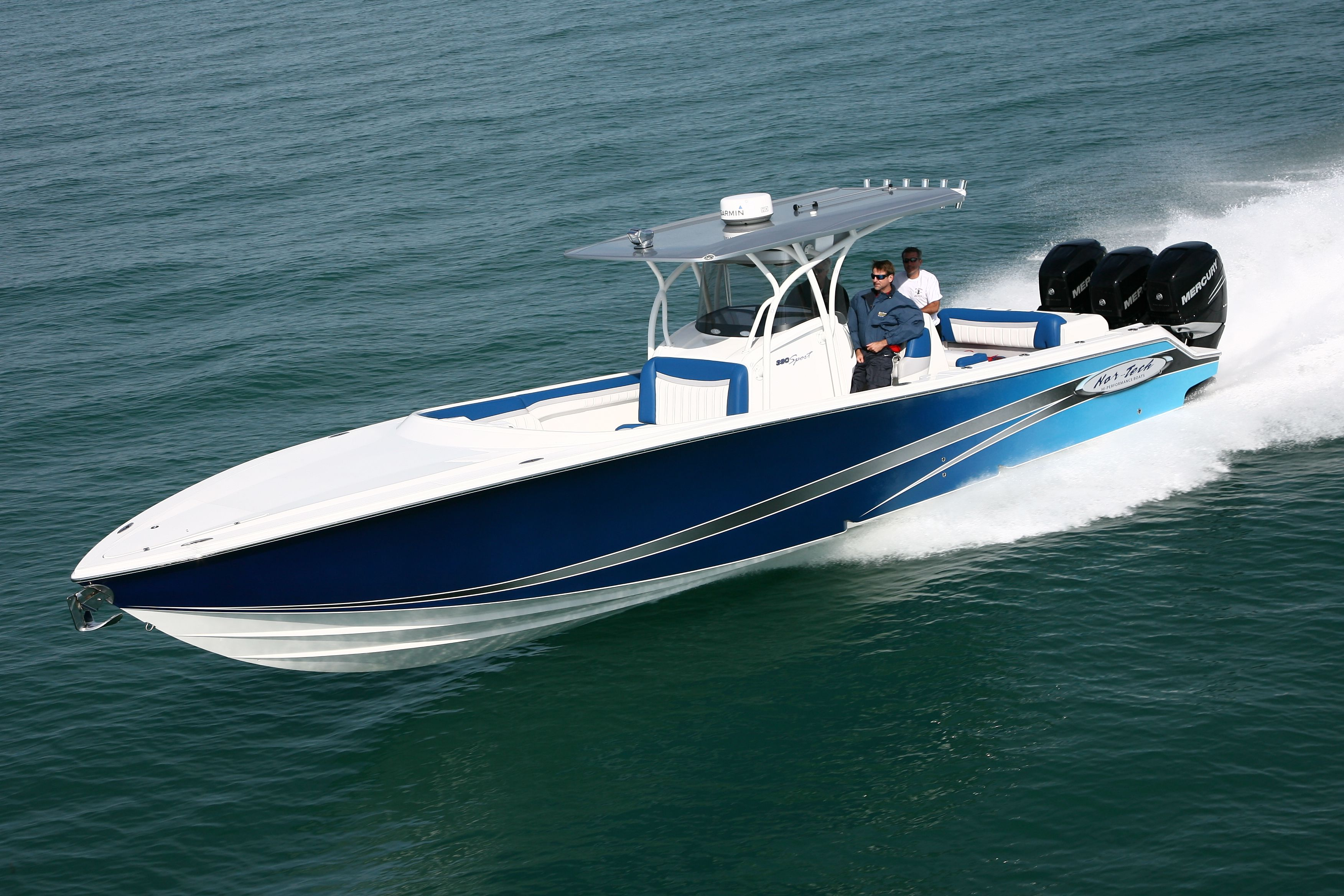 As of today this is the fastest console boat Nor Tech has built a