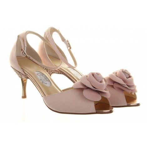Diane Hall Sugar Plum Rose Pink Vintage Designer Wedding Shoes