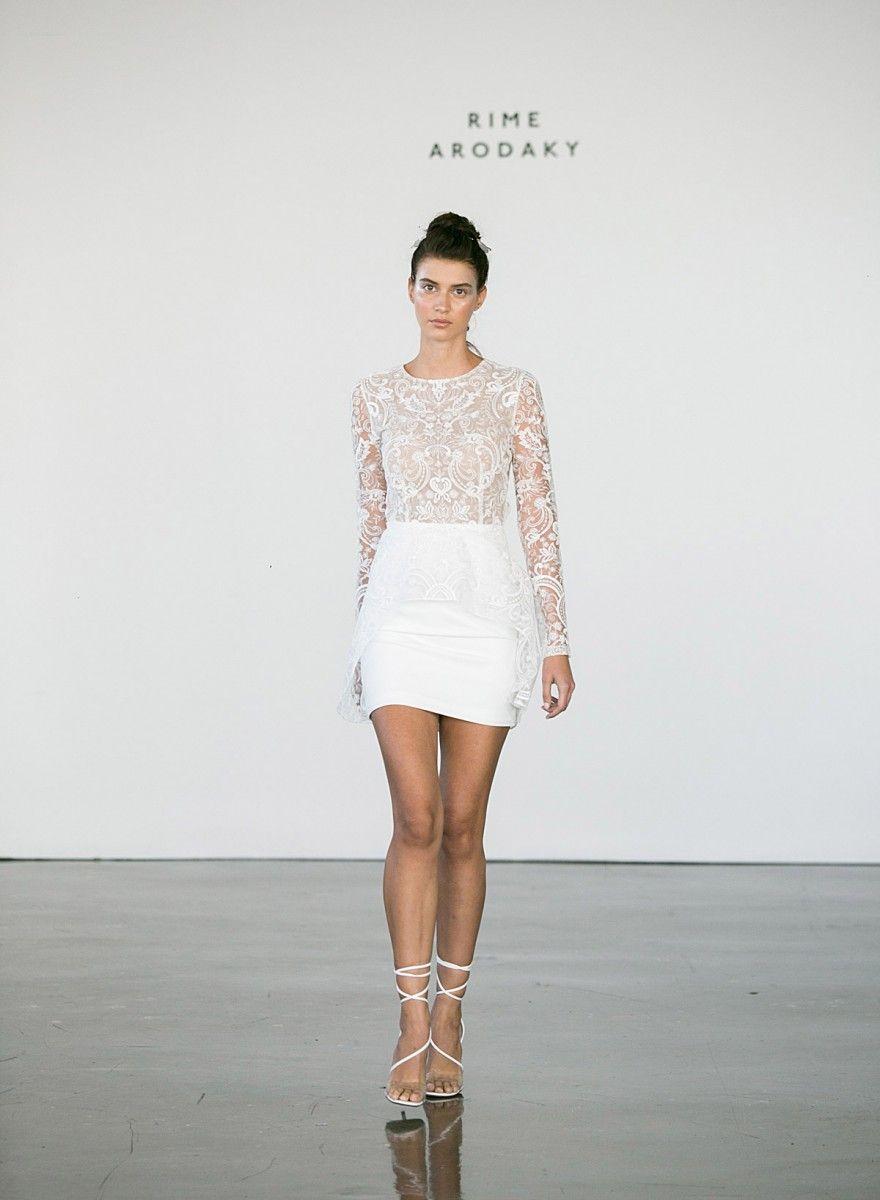 Sexy wedding mini dress.