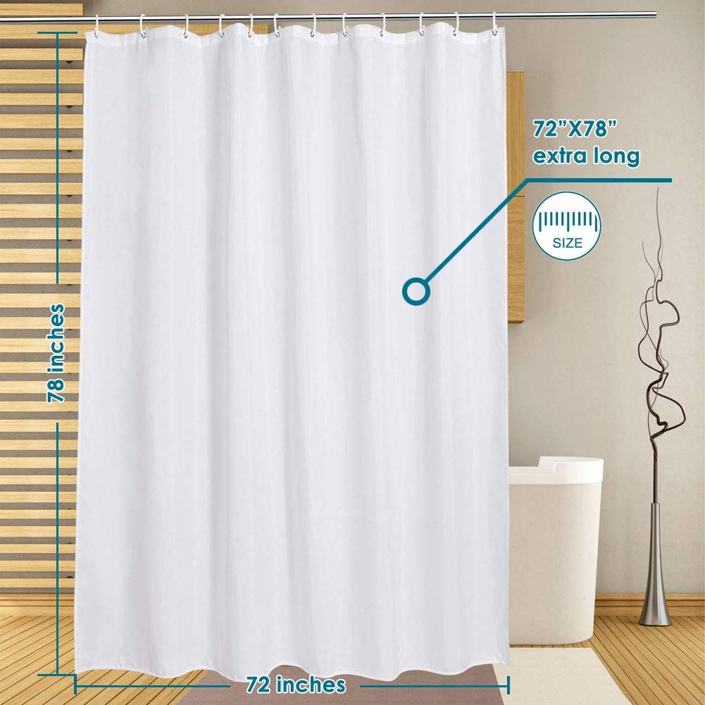 Lanmeng Curtain Bathroom Quality Washable In 2020 Extra Long Shower Curtain Long Shower Curtains Curtains
