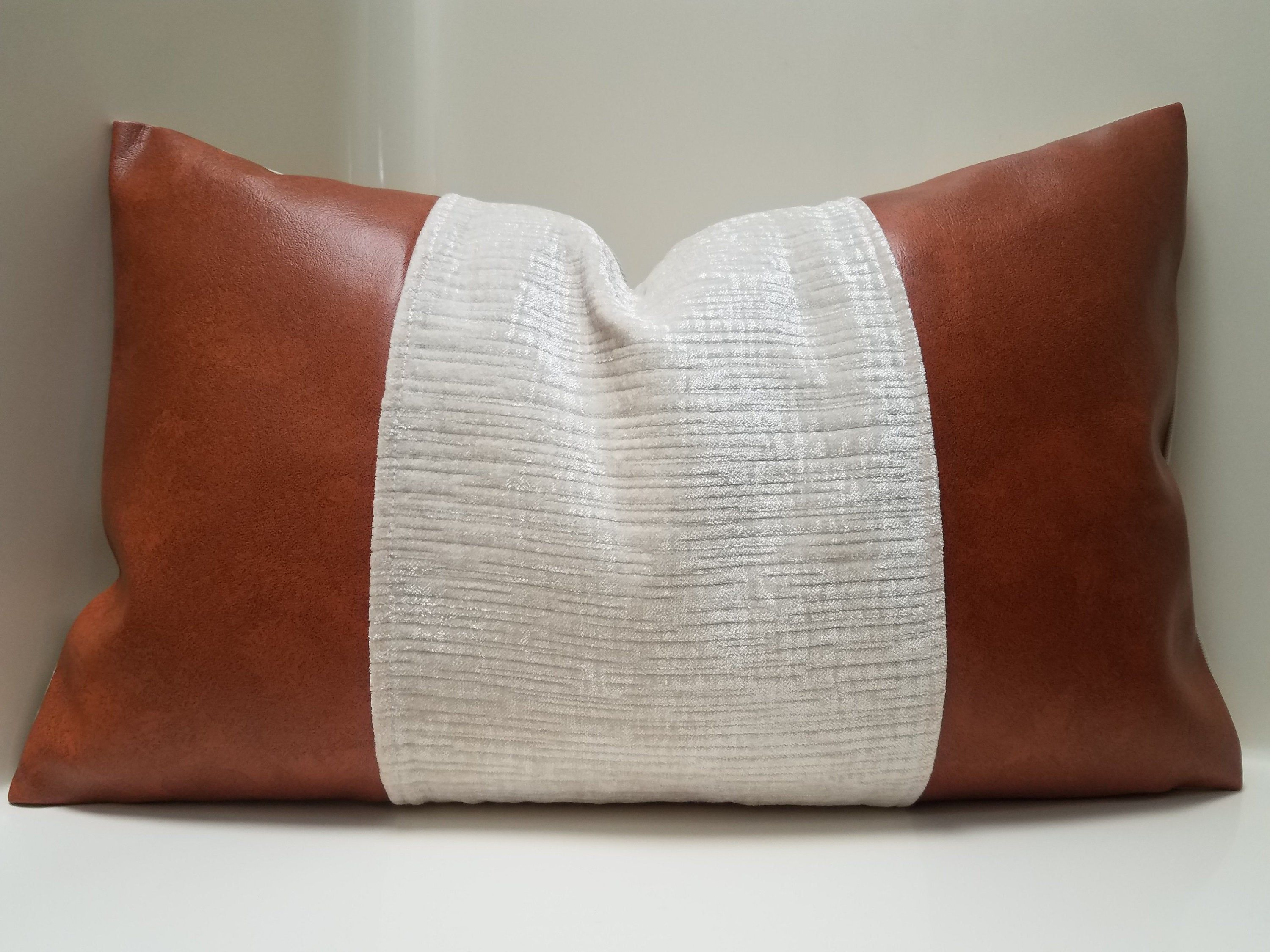 faux leather pillow cover variety color