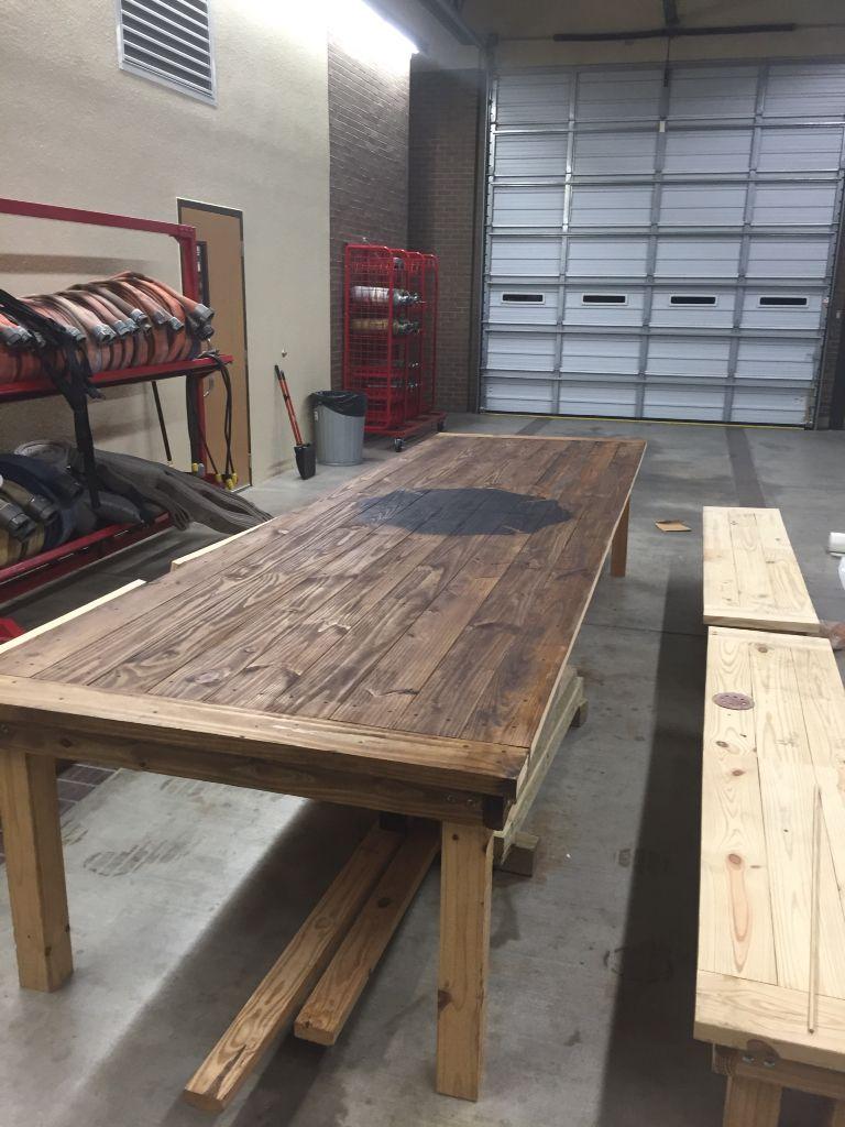 HFD Fire Station Dinner Table