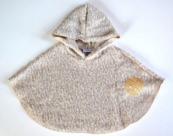 Hooded Monogrammed Poncho Cape van GeorgeandFran op Etsy