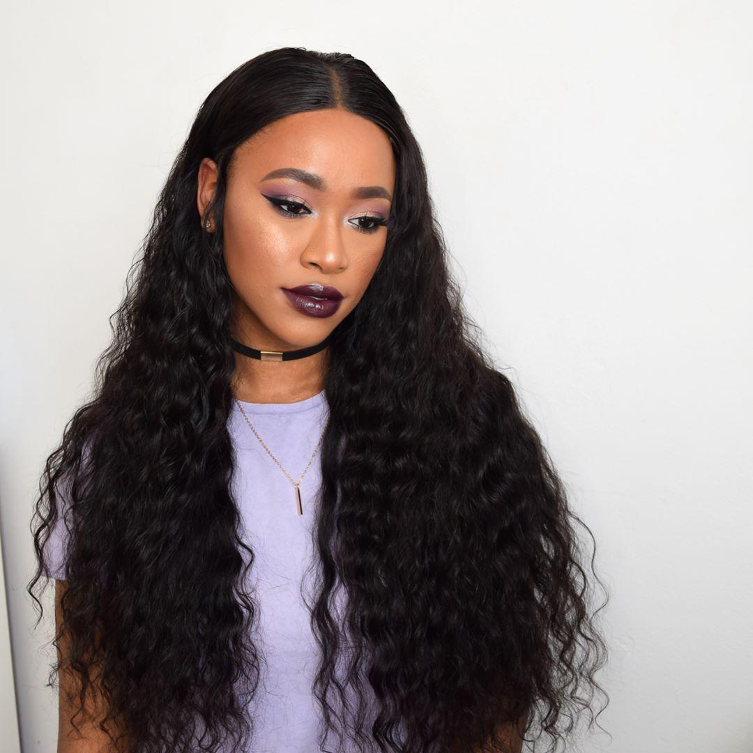 Alipearl Peruvian Human Hair 4pcs Loose Deep Wave with Lace