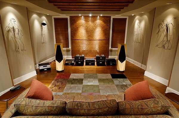 Beautiful listening room pics with treatment theater pinterest room audio and audiophile for Living room acoustic treatment